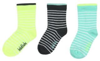 Boboli chlapecká sada tří párů ponožek 19 - 21 vícebarevná