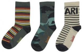 Boboli chlapecká sada tří párů ponožek 25 - 27 zelená