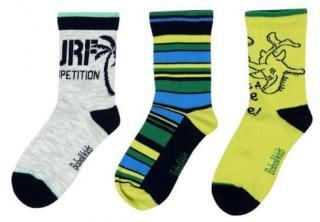 Boboli chlapecká sada tří párů ponožek 25 - 27 žlutá