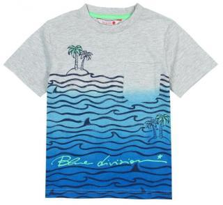Boboli chlapecké tričko 116 šedá/modrá