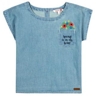 Boboli dívčí džínové tričko 162 modrá