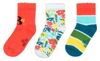 Boboli dívčí sada tří párů ponožek 34 - 36 oranžová