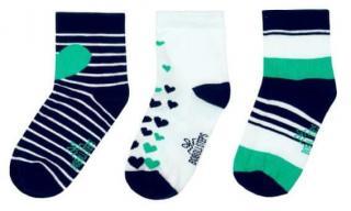 Boboli dívčí sada tří párů ponožek 34 - 36 zelená