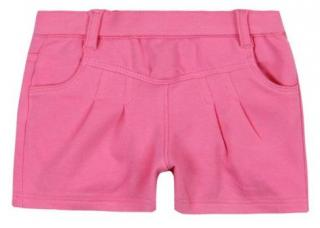 Boboli dívčí teplákové kraťasy 80 růžová