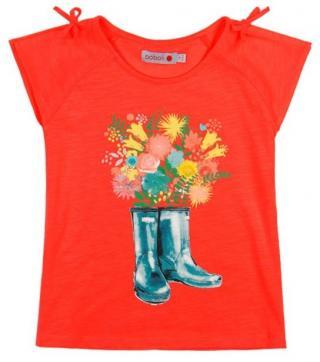Boboli dívčí tričko 116 oranžová