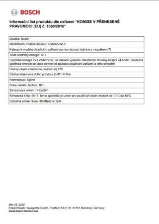 Bosch KGN39VWEP