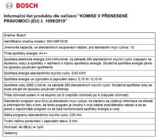 Bosch SMV46FX01E - zánovní