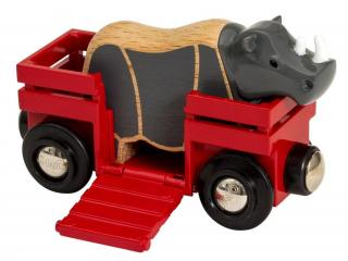 Brio World 33968 Nosorožec a vagónek - rozbaleno