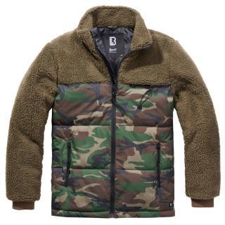 Bunda Brandit Jackson Teddyfleece Jacket - olivová-woodland, L