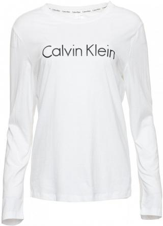 Calvin Klein dámské tričko L/S Crew Neck QS6164E S bílá - zánovní