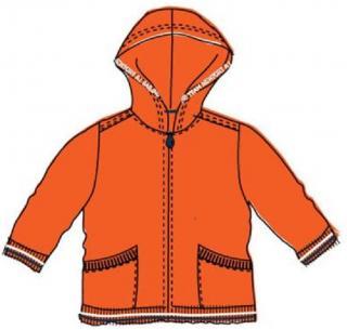 Carodel chlapecká mikina 86 oranžová