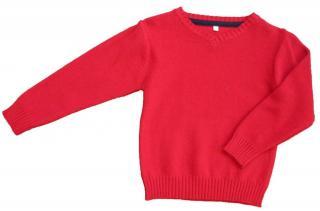 Carodel chlapecký svetr 110 červená - zánovní