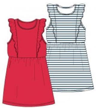 Carodel dívčí set šatů 116 červená/modrá