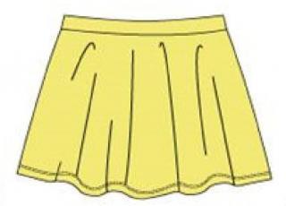 Carodel dívčí sukně 98 žlutá