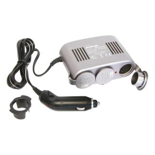 CarPoint Roztrojka 12V - s kabelem Lux 10A a LED kontrolkou černá - rozbaleno