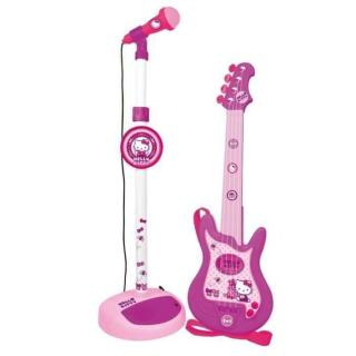 Cdiscount dětská elektronická kytara a mikrofon Hello Kitty, 3