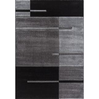 Cdiscount kusový koberec Lima šedočerný, 160x230 cm