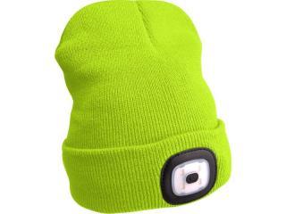 Čepice s čelovkou Extol Light - fluorescenční žlutá