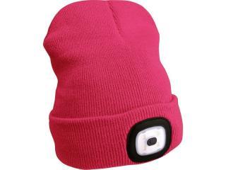 Čepice s čelovkou Extol Light - růžová