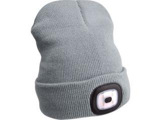 Čepice s čelovkou Extol Light - šedá