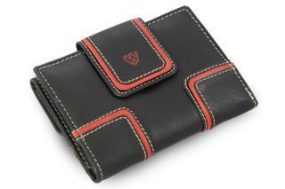 Černá dámská kožená peněženka s červeným lemováním Paislee