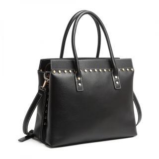 Černá dámská luxusní kabelka do ruky i přes rameno Abadon