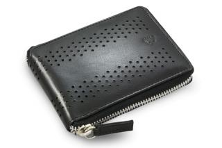 Černá kožená zipová peněženka Talia