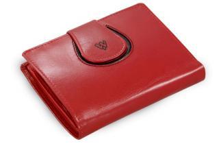 Červená dámská kožená peněženka Alexia