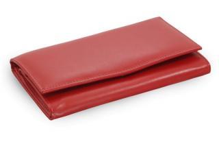 Červená dámská kožená psaníčková peněženka Macien