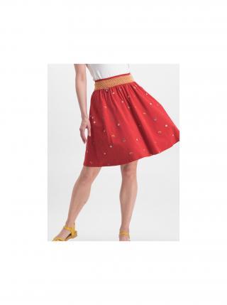Červená sukně s výšivkou Blutsgeschwister