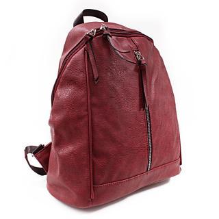 Červený praktický dámský batoh Abila