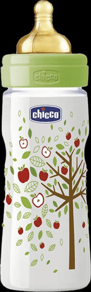 CHICCO Láhev Well-Being bez BPA kaučukový dudlík rychlý průtok 330 ml
