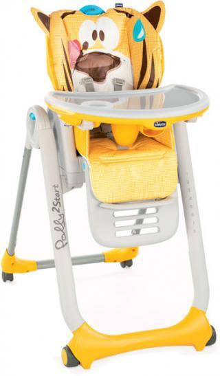 CHICCO Židlička jídelní Polly 2 Start - Peacfull Jungle