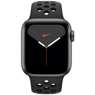 Chytré hodinky Apple Watch Nike Series 5 GPS 40mm pouzdro z vesmírně šedého hliníku - antracitový/černý sportovní řemínek Nike SK