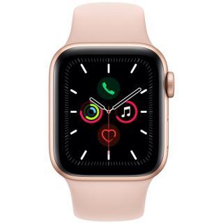 Chytré hodinky Apple Watch Series 5 GPS 40mm pouzdro ze zlatého hliníku - pískově růžový sportovní řemínek