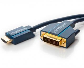 ClickTronic HQ OFC, HDMIDVI-D, zlacené kon., 5m