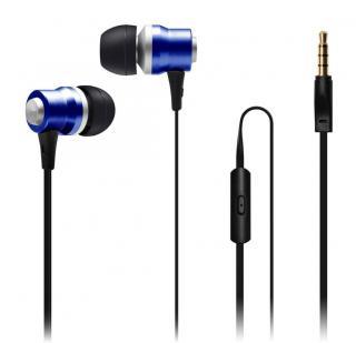 Connect IT Alu Sonics sluchátka do uší EP-224-BL, modrá  - zánovní