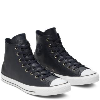 Converse černé kožené unisex tenisky Chuck Taylor All Star Dark Obsidian/White/Black - 37,5