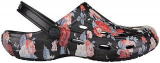 Coqui Dámské pantofle Tina Black Roses 1353-205-2200
