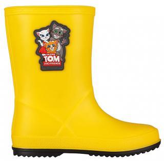 Coqui Dětské holínky TT&F Rainy Yellow/Antracit 8505-605-1224 28