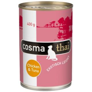 Cosma Thai v želé 6 x 400 g - Tuňák s lososem