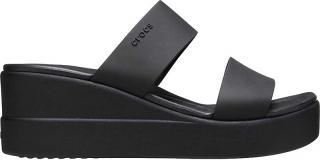 Crocs Dámské pantofle Crocs Brooklyn Mid Wedge W Black/Black 206219-060 38-39