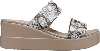Crocs Dámské pantofle Crocs Brooklyn Mid Wedge W Multi/Stucco 206219-93T 41-42
