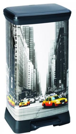 Curver Odpadkový koš Decobin 50 l New York - rozbaleno