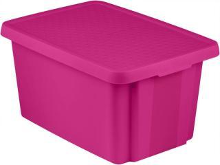 Curver Úložný box ESSENTIALS 45 l s víkem fialový - zánovní