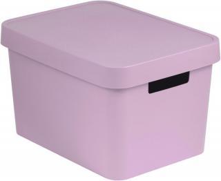 Curver Úložný box s víkem Infinity 17 l růžová - zánovní