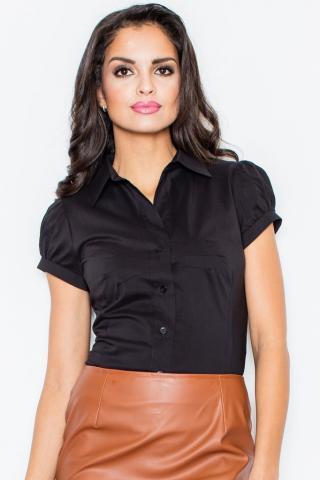 Dámská košile Figl M026, černá