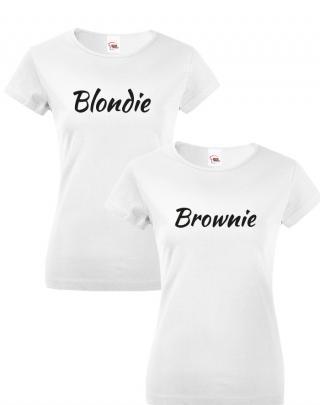 Dámská BFF trička Blondie a Brownie - stylová trika pro kamarádky