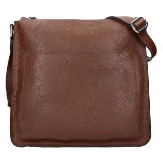 Dámská kožená kabelka Facebag Lima - tmavě hnědá