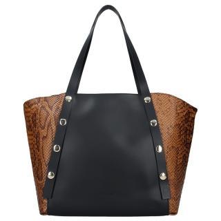 Dámská kožená kabelka Ripani Alessia - hnědo-černá